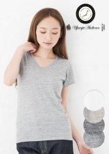 ガラガラ紡Vネック半袖Tシャツ [Lady's]【MADE IN JAPAN】『日本製』/ Upscape Audience