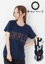 """ラフィー天竺""""SIMPLE""""プリントポケット付きクルーネックT [Lady's]【MADE IN JAPAN】『日本製』/ Upscape Audience"""