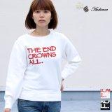 """オールドプリント""""The End Crowns All.""""ヴィンテージガゼットクルーネックスウェット [Lady's] / Audience"""