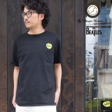 BEATLES Apple刺繍バックプリントUSAファブリック丸胴国産ポケットTEE【FABRIC MADE IN USA】【ASSEMBLED IN JAPAN】『日本製』/ Upscape Audience