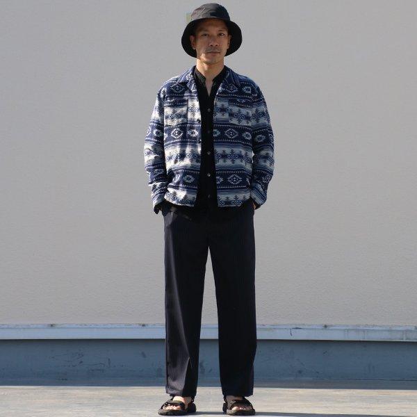 画像2: ネイティブジャガードボーダーオープンカラーライト_Jacket【MADE IN JAPAN】『日本製』/ Upscape Audience