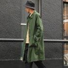 More photos3: ヴィンテージナイロンオックス ルーズフィット ステンカラーロングコート【MADE IN JAPAN】『日本製』/ Upscape Audience【予約販売・9月上旬頃入荷予定】