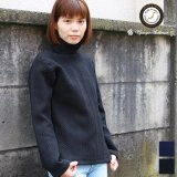 ケーブル裏毛タートルネック長袖スウェット[Lady's]【MADE IN JAPAN】『日本製』  / Upscape Audience