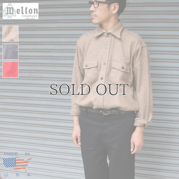 画像1: MELTON COMPANY (メルトンカンパニー) CPOウールチェックシャツ【MADE IN U.S.A】『米国製』/ デッドストック