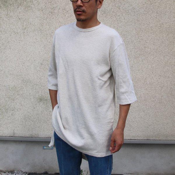 画像2: 度詰ワッフル サイドスリット ロングビッグ 5/S Tee【MADE IN JAPAN】『日本製』/ Upscape Audience