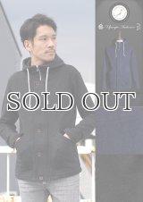 インディゴ染裏毛フードブルゾン【MADE IN JAPAN】『日本製』【送料無料】/ Upscape Audience