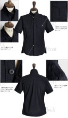 More photos1: 【RE PRICE / 価格改定】高密度硫化ツイルレイズドネック半袖シャツ / Audience