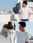 More photos3: 【RE PRICE / 価格改定】  ダンガリースタンドボタンダウンカラー半袖シャツ / Audience