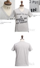 """More photos1: 【RE PRICE / 価格改定】 ラフィー天竺""""WANT""""Vネックポケット付きカットソー[Lady's]【MADE IN JAPAN】 / Upscape Audience"""