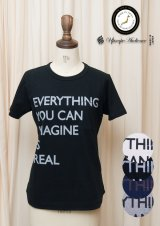 "【RE PRICE / 価格改定】ラフィー天竺""EVERYTHING...""プリントポケット付きクルーネックT [Lady's]【MADE IN JAPAN】『日本製』/ Upscape Audience"