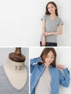 More photos3: 【RE PRICE/価格改定】ガラガラ紡Vネック半袖Tシャツ [Lady's]【MADE IN JAPAN】『日本製』/ Upscape Audience