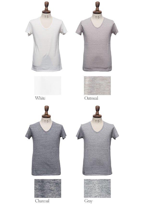 画像4: 【RE PRICE/価格改定】ガラガラ紡Vネック半袖Tシャツ [Lady's]【MADE IN JAPAN】『日本製』/ Upscape Audience