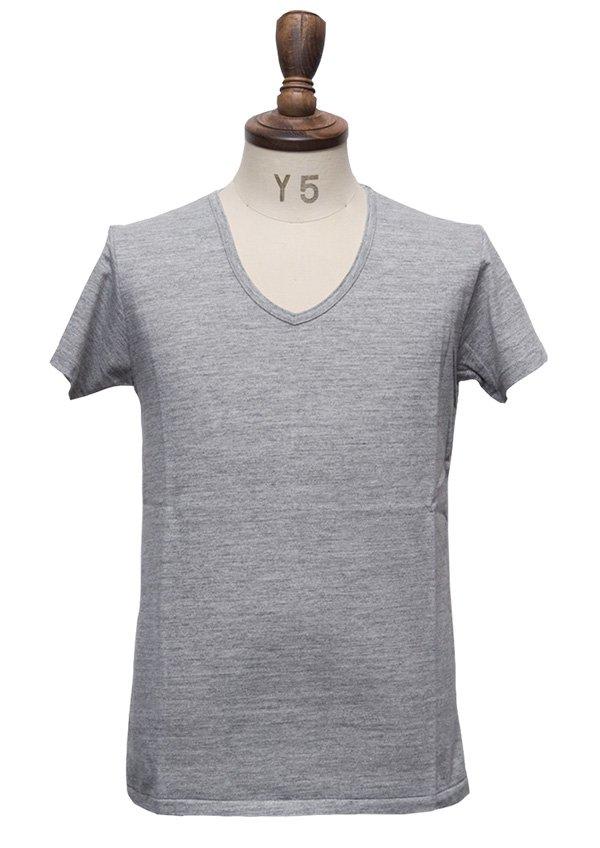 画像2: 【RE PRICE/価格改定】ガラガラ紡Vネック半袖Tシャツ [Lady's]【MADE IN JAPAN】『日本製』/ Upscape Audience