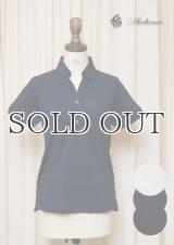 【RE PRICE / 価格改定】Coolmax(クールマックス)鹿の子Vネック隠しボタンダウンポロシャツ [Lady's] / Audience