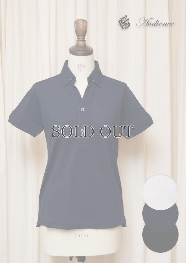 画像1: 【RE PRICE / 価格改定】Coolmax(クールマックス)鹿の子Vネック隠しボタンダウンポロシャツ [Lady's] / Audience