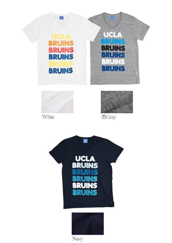 """画像4: 【RE PRICE / 価格改定】 UCLA""""BRUINS""""コットン/三素材混カレッジプリント半袖VネックTシャツ [Lady's] / Audience"""