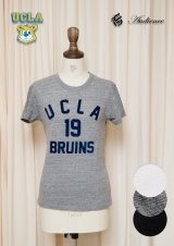 "【RE PRICE / 価格改定】UCLA""UCLA 19 BRUINS""三素材混カレッジプリント半袖クルーネックTシャツ [Lady's] / Audience"