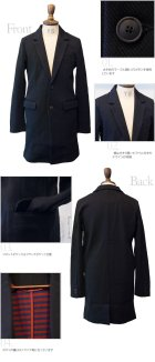More photos1: 【RE PRICE/価格改定】コットンカルゼ2ボタンチェスターコート  / Audience