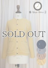 【RE PRICE / 価格改定】9Gスパン起毛クルーネック長袖ニットソーカーディガン [Lady's]【MADE IN JAPAN】『日本製』/ Upscape Audience