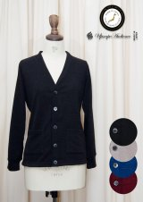 【RE PRICE / 価格改定】9GスパンニットソーVネック長袖カーディガン [Lady's]【MADE IN JAPAN】『日本製』/ Upscape Audience