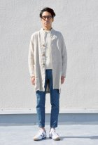 More photos3: French Linen(フレンチリネン)鹿の子クルーネック長袖ニット【MADE IN JAPAN】『日本製』/ Upscape Audience