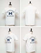 "More photos2: 【RE PRICE / 価格改定】MICHIGAN ""MICHIGAN M WOLVERINES"" C/N S/S 6.6oz オールドプリントT / Audience"