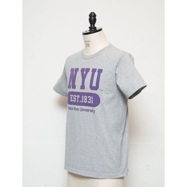 "画像2: 【RE PRICE / 価格改定】NEW YORK UNIVERSITY""NYU EST.1831""C/N S/S 6.6oz オールドプリントT [Lady's] / Audience"