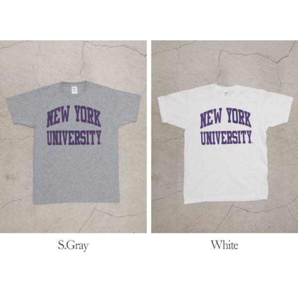 """画像5: 【RE PRICE / 価格改定】NEW YORK UNIVERSITY""""NEW YORK UNIVERSITY""""C/N S/S 6.6oz オールドプリントT [Lady's] / Audience"""