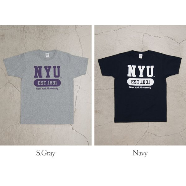"画像5: 【RE PRICE / 価格改定】NEW YORK UNIVERSITY""NYU EST.1831""C/N S/S 6.6oz オールドプリントT [Lady's] / Audience"