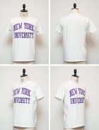 "More photos2: 【RE PRICE / 価格改定】NEW YORK UNIVERSITY""NYU EST.1831""C/N S/S 6.6oz オールドプリントT [Lady's] / Audience"