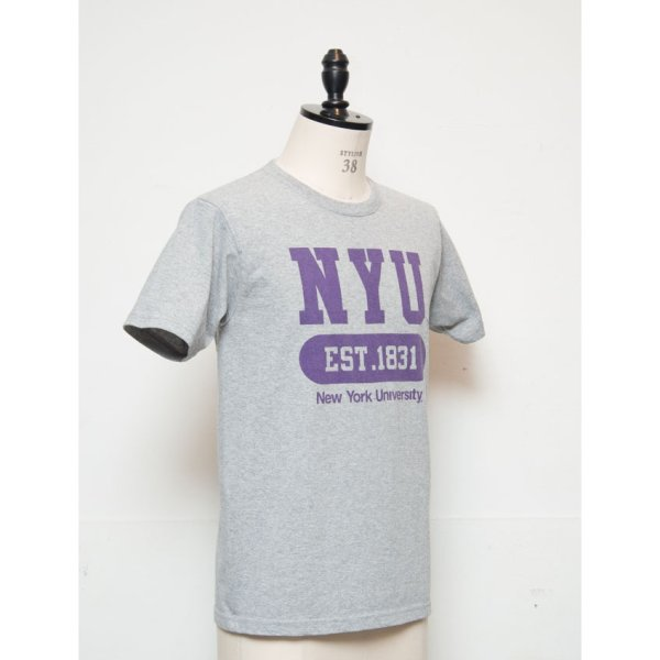 "画像3: 【RE PRICE / 価格改定】NEW YORK UNIVERSITY""NYU EST.1831""C/N S/S 6.6oz オールドプリントT [Lady's] / Audience"