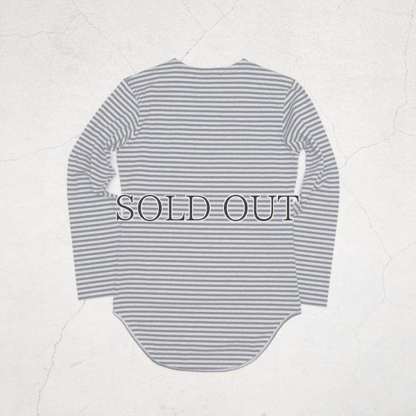 画像3: 高密度シルケットボーダーロング丈長袖Tシャツ【MADE IN JAPAN】『日本製』/ Upscape Audience
