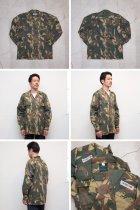More photos1: 南アフリカ軍デッドストックカモフラージュミリタリーシャツ / デッドストック