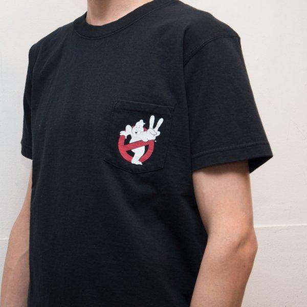 """画像2: Ghost Busters """"Michael C. Gross Logo-II"""" 7.1oz米綿丸胴オールドプリントクルーネックポケットT / Audience"""