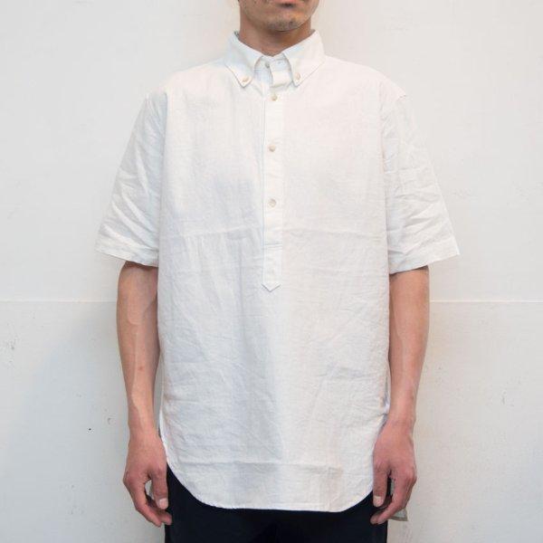 画像2: コットンリネンキャンバスボタンダウンプルオーバーシャツ【MADE IN JAPAN】『日本製』/ Upscape Audience