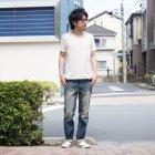 More photos3: オーガニックコットン天竺Vネック半袖Tシャツ【MADE IN JAPAN】『日本製』/ Upscape Audience