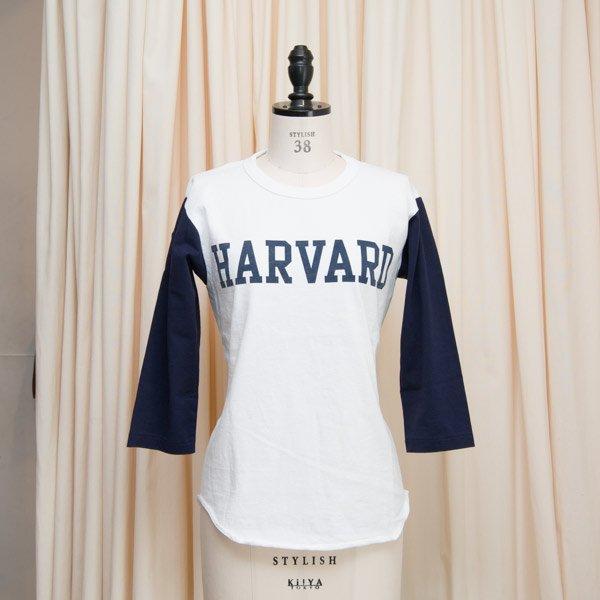 """画像2: オールドプリント""""HARVARD""""ヴィンテージセットインベースボールアンダーTEE [Lady's] / Audience"""