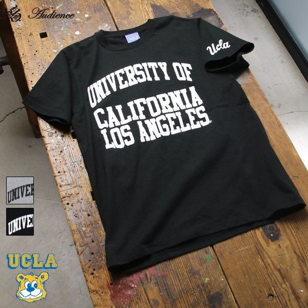 """画像1: 【RE PRICE / 価格改定】UCLA""""UNIVERSITY CALIFORNIA LOS ANGELES""""C/N S/S 6.6oz オールドプリントT [Lady's] / Audience"""