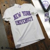 "【RE PRICE / 価格改定】NEW YORK UNIVERSITY""NEW YORK UNIVERSITY""C/N S/S 6.6oz オールドプリントT [Lady's] / Audience"