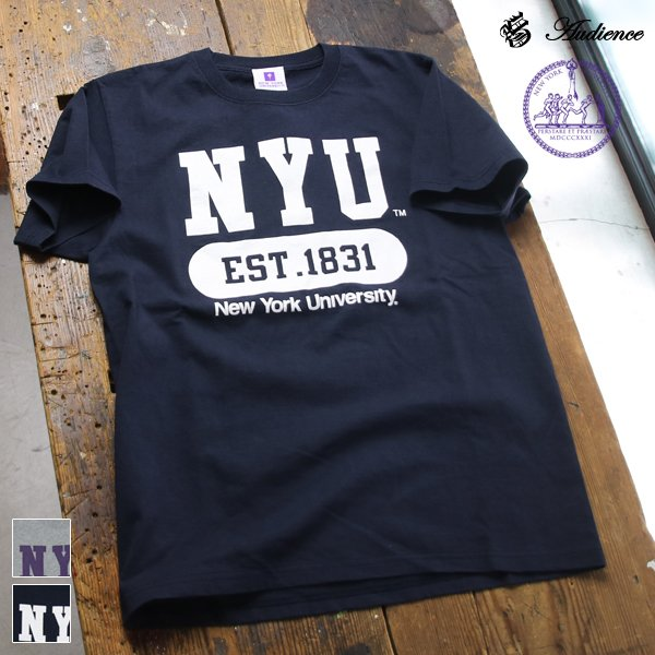 "画像1: 【RE PRICE / 価格改定】NEW YORK UNIVERSITY""NYU EST.1831""C/N S/S 6.6oz オールドプリントT [Lady's] / Audience"