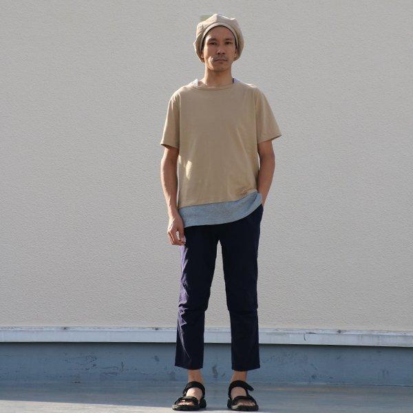 画像2: コーマ天竺×度詰ワッフルボートネックレイヤード5分袖ビックTEE【MADE IN JAPAN】『日本製』/ Upscape Audience