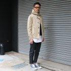 More photos1: 【RE PRICE / 価格改定】高密度サテンストレッチくるみボタンスタンドカラーフードジャケット  / Audience