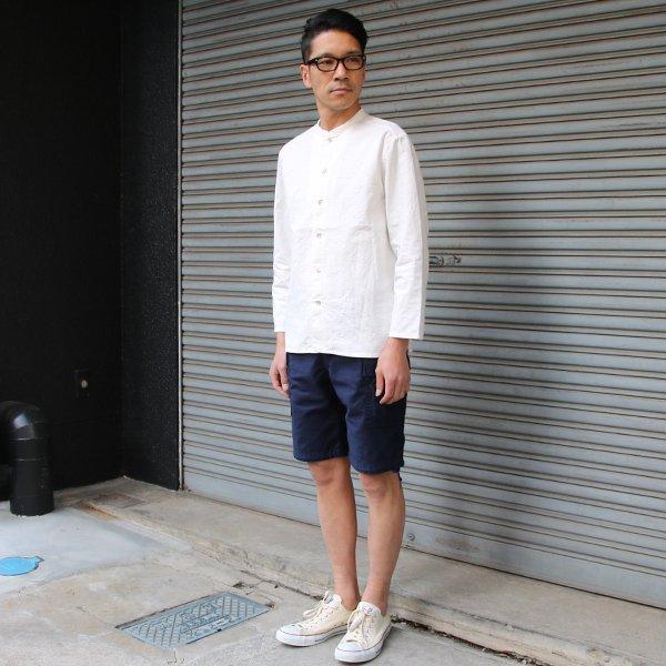 画像2: 綿麻キャンバスマオカラー9分袖ライト_jacket【MADE IN JAPAN】『日本製』/ Upscape Audience