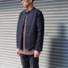 More photos2: 【RE PRICE/価格改定】ソフトリネンキャンバスプルオーバーシャツバンドカラーオーバーサイズ9Sシャツ【MADE IN JAPAN】『日本製』/ Upscape Audience