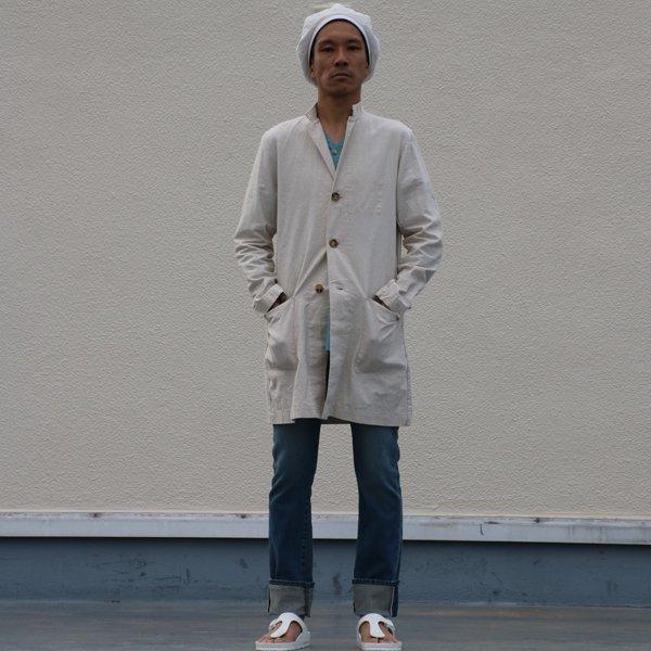 画像2: 綿麻キャンバスドクターコート【MADE IN JAPAN】『日本製』【送料無料】/ Upscape Audience