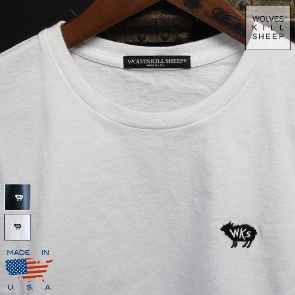 画像1: WKS SHEEP EMBROIDERD Tシャツ【MADE IN U.S.A】『米国製』 / WOLVES KILL SHEEP
