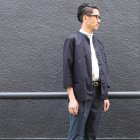 More photos2: コットンギャバジン マオカラー 七分袖 シャツジャケット【MADE IN JAPAN】『日本製』/ Upscape Audience