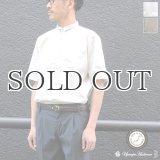 コットンギャバジンスタンドスモールカラー5/S Shirts Jacket【MADE IN JAPAN】『日本製』/ Upscape Audience