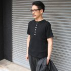 More photos2: 【RE PRICE/価格改定】度詰ワッフルC/NヘンリーS/Sカットソー【MADE IN JAPAN】『日本製』/ Upscape Audience