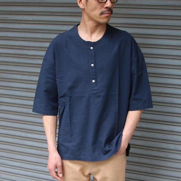 画像2: コットンリネンキャンバスジンベエTOPSシャツ【MADE IN JAPAN】『日本製』/ Upscape Audience